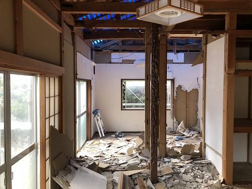 新潟市東区 長岡市 リノベーション 解体 間取り変更 リフォーム リビング ダイニング キッチン LDK