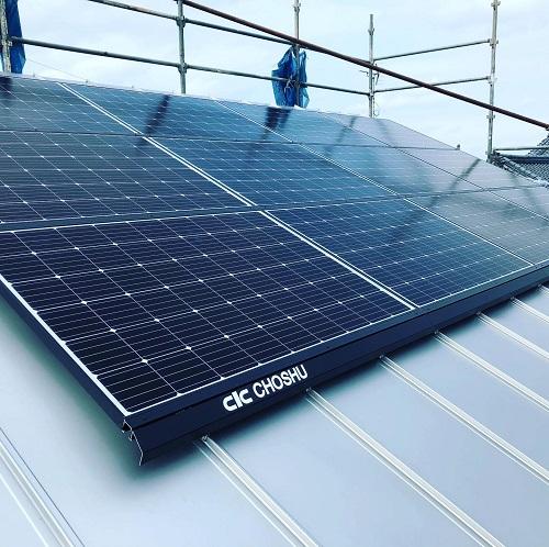 新潟市 東区 太陽光パネル 太陽光 ソーラーパネル 太陽 屋根 電気 長州産業 長州