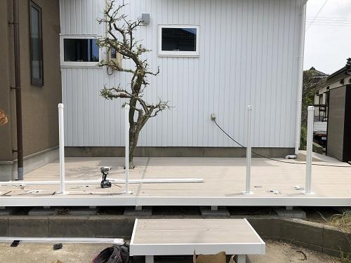 新潟市東区 ウッドデッキ 外構デザイン 外構設計 エクステリア 外構リフォーム ウッドデッキ
