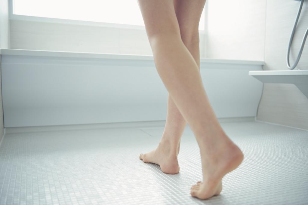 お風呂の足元が暖かい